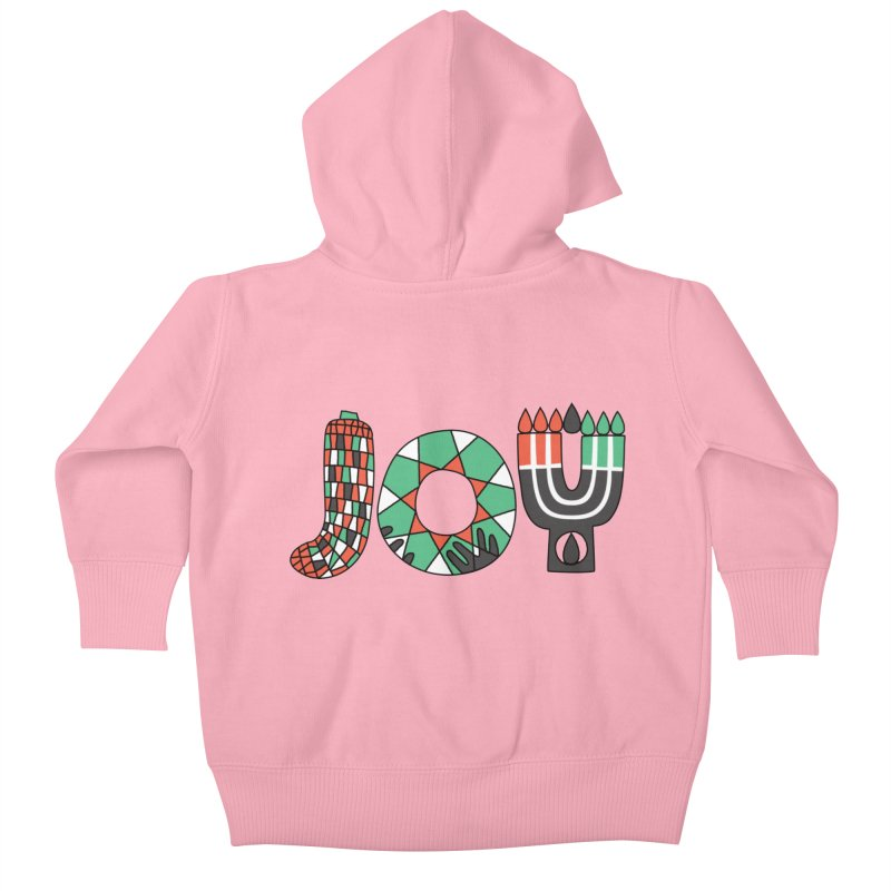 JOY (Kwanzaa) Kids Baby Zip-Up Hoody by Hi Hello Greetings