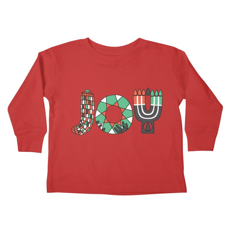 JOY (Kwanzaa) Kids Toddler Longsleeve T-Shirt by Hi Hello Greetings