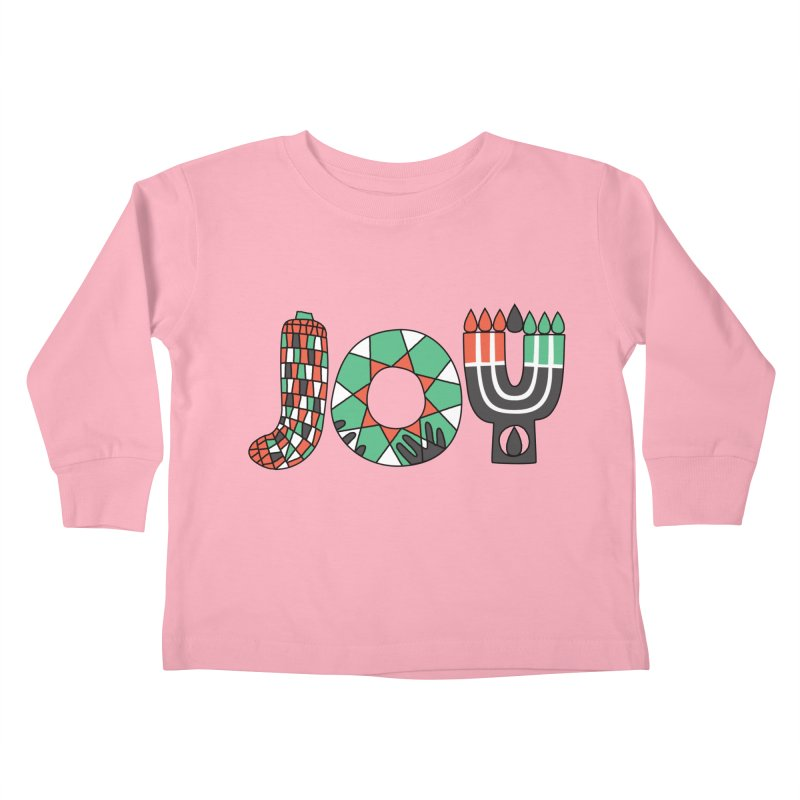 JOY (Kwanzaa) Kids Toddler Longsleeve T-Shirt by Hi Hello Greetings