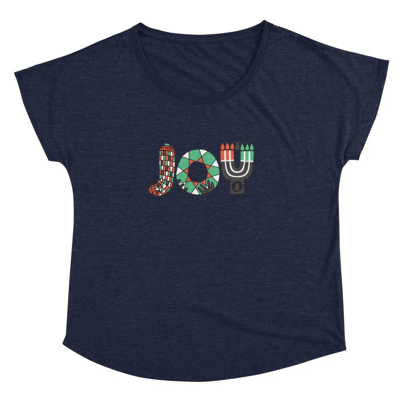 JOY (Kwanzaa) Women's Dolman Scoop Neck by Hi Hello Greetings