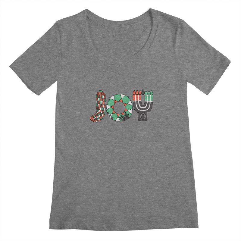 JOY (Kwanzaa) Women's Scoopneck by Hi Hello Greetings