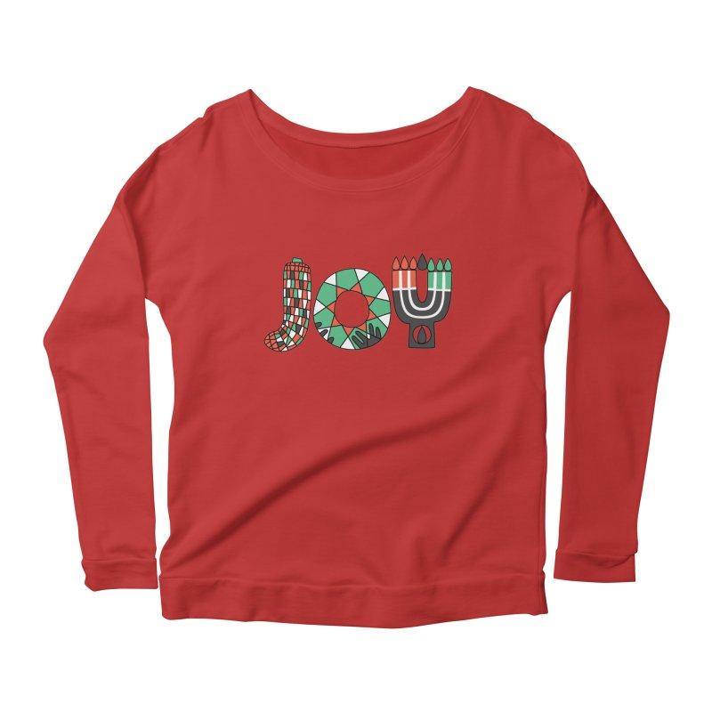 JOY (Kwanzaa) Women's Scoop Neck Longsleeve T-Shirt by Hi Hello Greetings