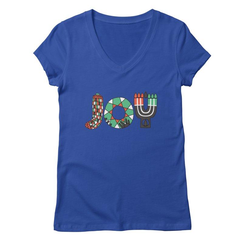 JOY (Kwanzaa) Women's Regular V-Neck by Hi Hello Greetings