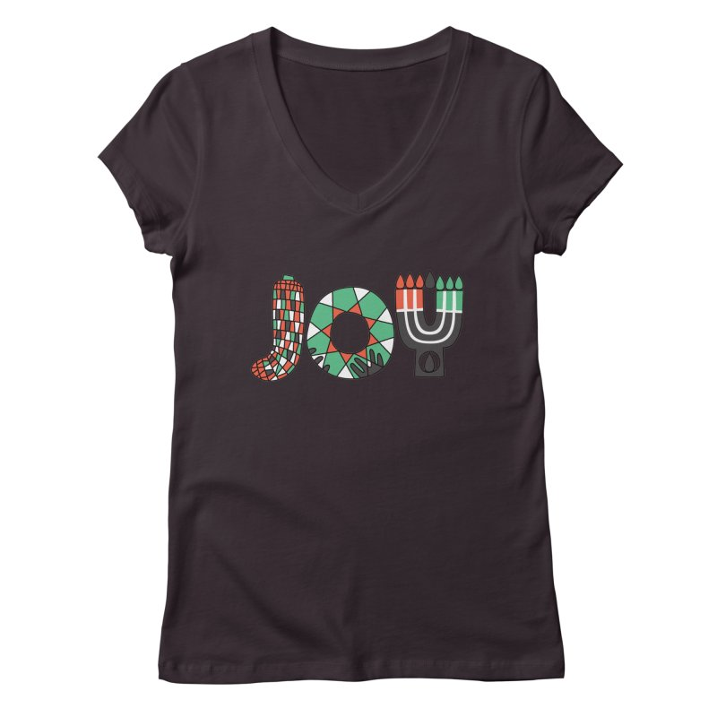 JOY (Kwanzaa) Women's V-Neck by Hi Hello Greetings
