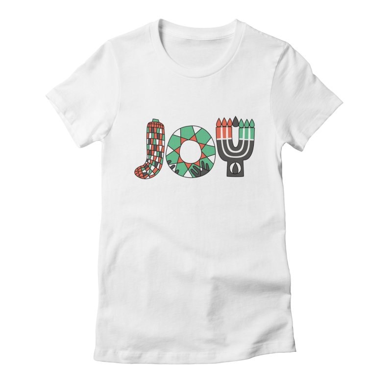 JOY (Kwanzaa) Women's Fitted T-Shirt by Hi Hello Greetings