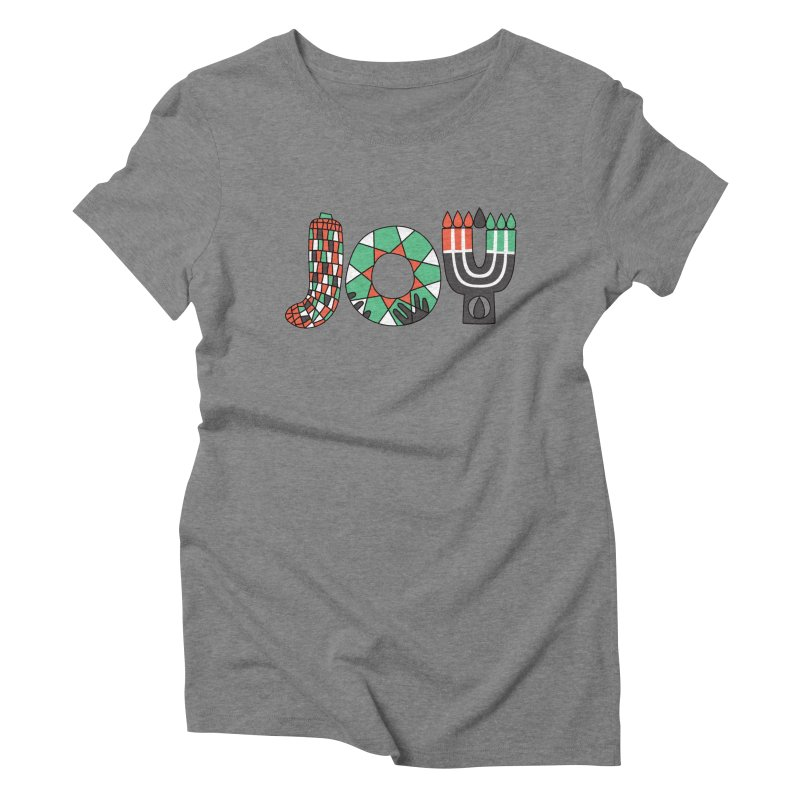 JOY (Kwanzaa) Women's Triblend T-Shirt by Hi Hello Greetings