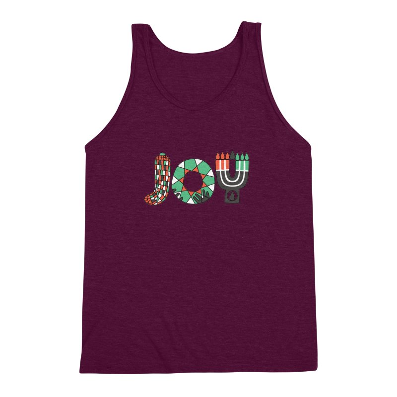 JOY (Kwanzaa) Men's Triblend Tank by Hi Hello Greetings