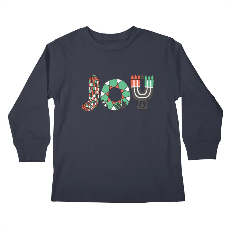 JOY (Kwanzaa) Kids Longsleeve T-Shirt by Hi Hello Greetings