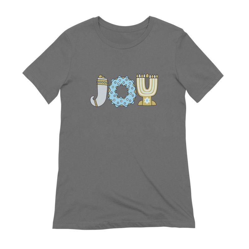 JOY (Hanukkah) Women's Extra Soft T-Shirt by Hi Hello Greetings