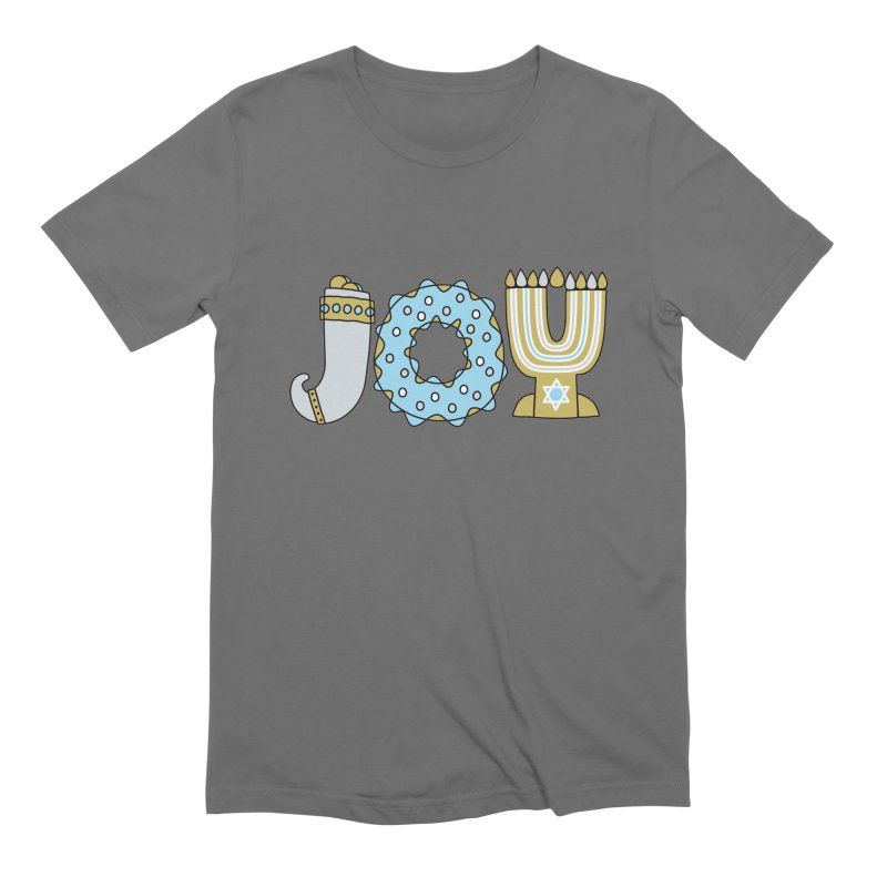 JOY (Hanukkah) Men's T-Shirt by Hi Hello Greetings