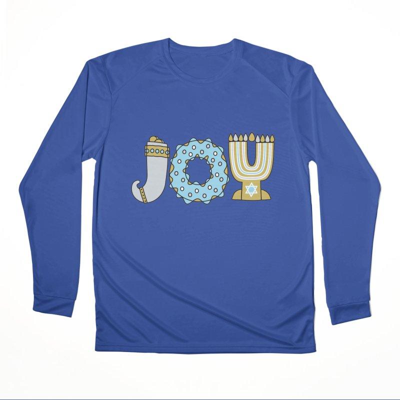 JOY (Hanukkah) Men's Performance Longsleeve T-Shirt by Hi Hello Greetings