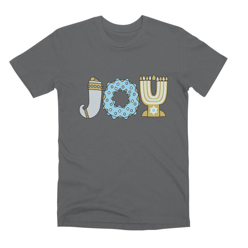 JOY (Hanukkah) Men's Premium T-Shirt by Hi Hello Greetings