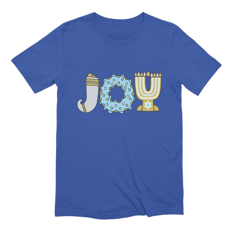 JOY (Hanukkah) Men's Extra Soft T-Shirt by Hi Hello Greetings