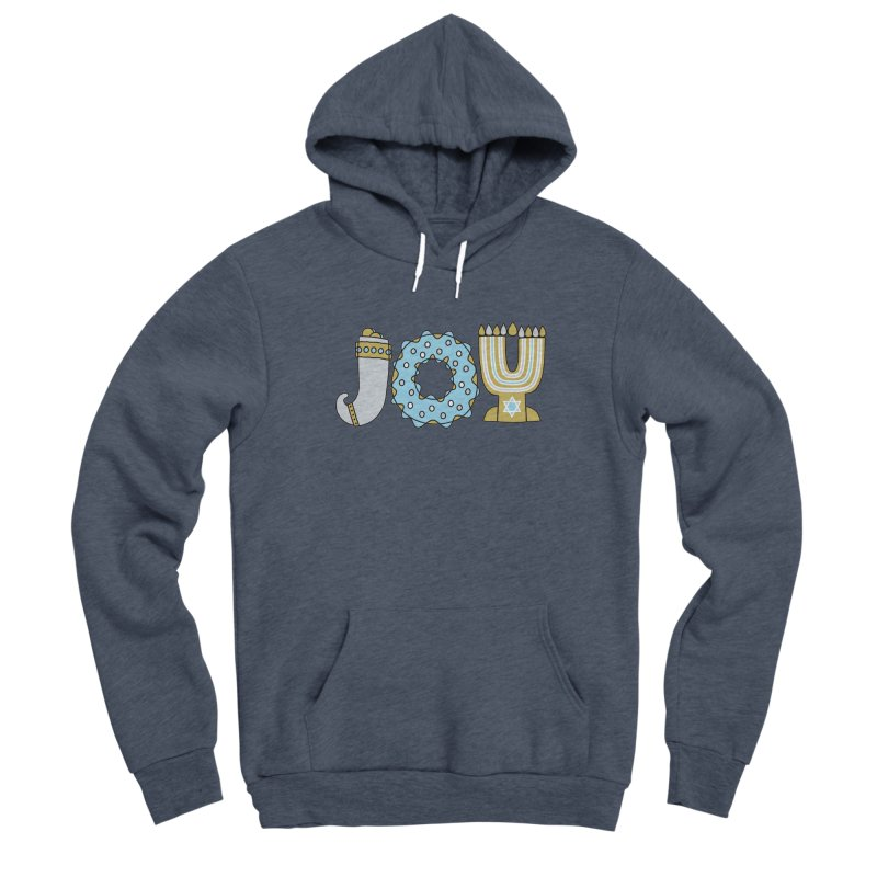 JOY (Hanukkah) Women's Sponge Fleece Pullover Hoody by Hi Hello Greetings
