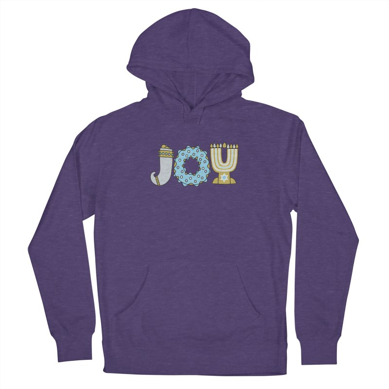 JOY (Hanukkah) Women's French Terry Pullover Hoody by Hi Hello Greetings