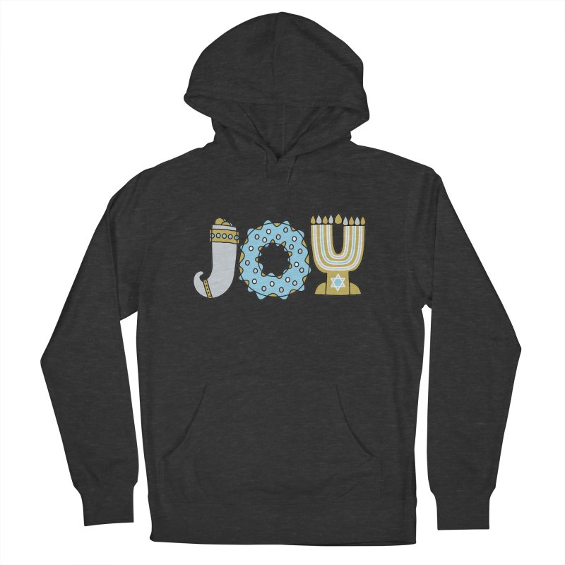 JOY (Hanukkah) Men's French Terry Pullover Hoody by Hi Hello Greetings