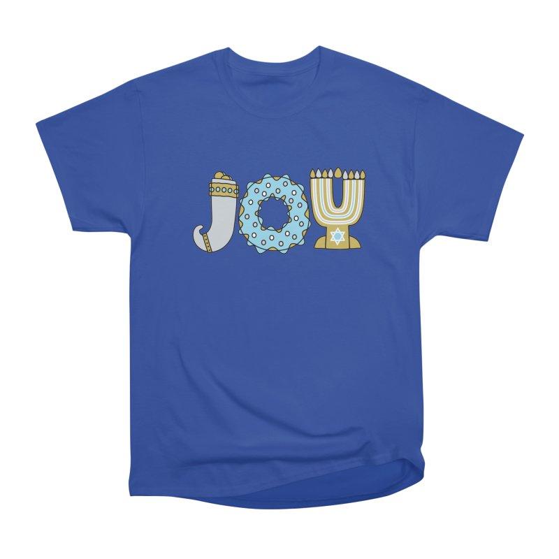 JOY (Hanukkah) Men's Heavyweight T-Shirt by Hi Hello Greetings