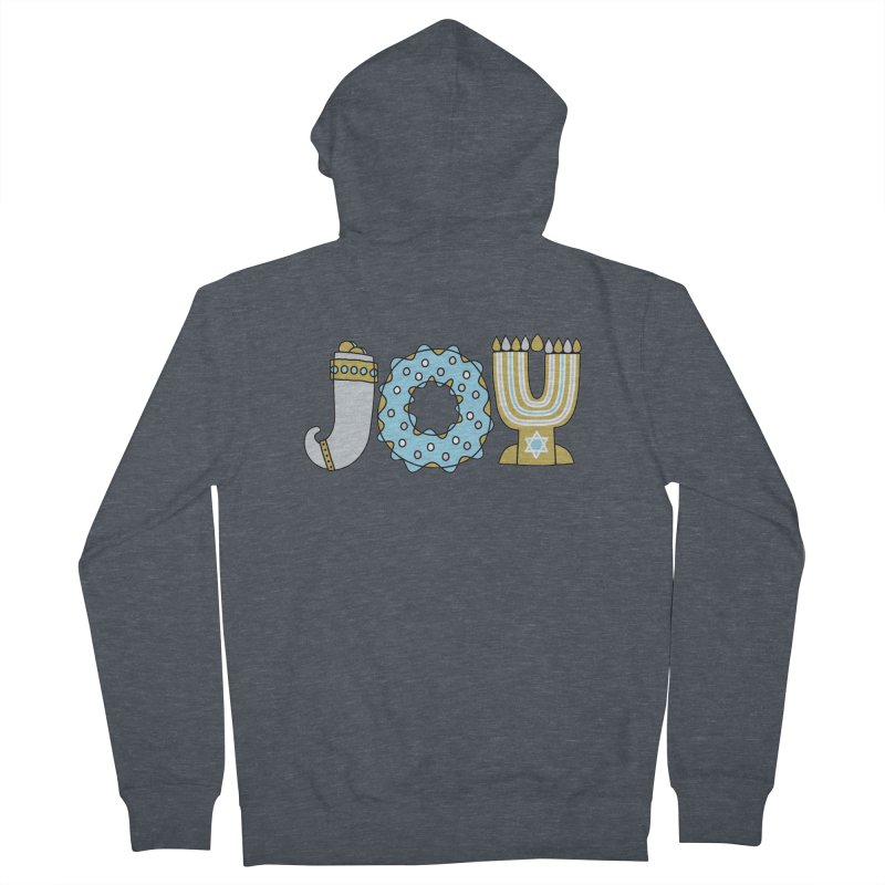 JOY (Hanukkah) Women's French Terry Zip-Up Hoody by Hi Hello Greetings