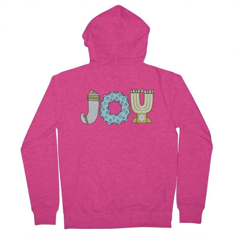 JOY (Hanukkah) Women's French Terry Zip-Up Hoody by Hi Hello Greetings