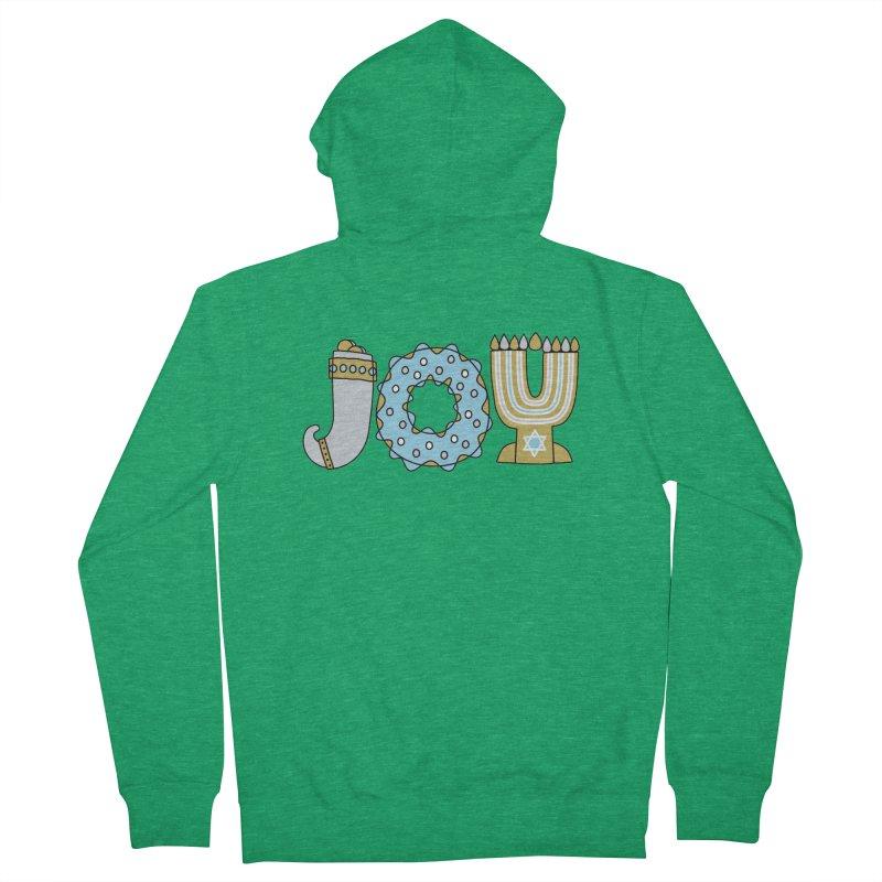 JOY (Hanukkah) Men's French Terry Zip-Up Hoody by Hi Hello Greetings