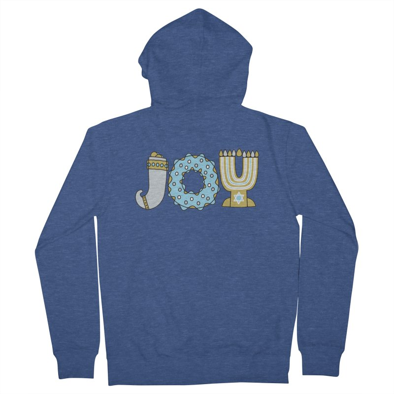 JOY (Hanukkah) Men's Zip-Up Hoody by Hi Hello Greetings