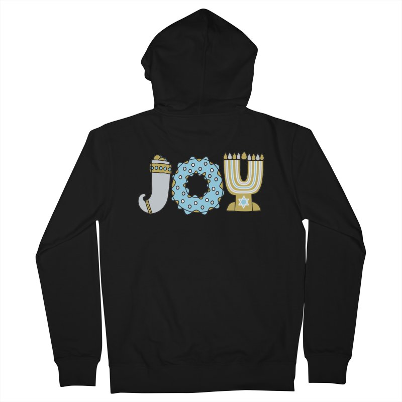 JOY (Hanukkah) Men's French Terry Zip-Up Hoody by Hi Hello Greetings