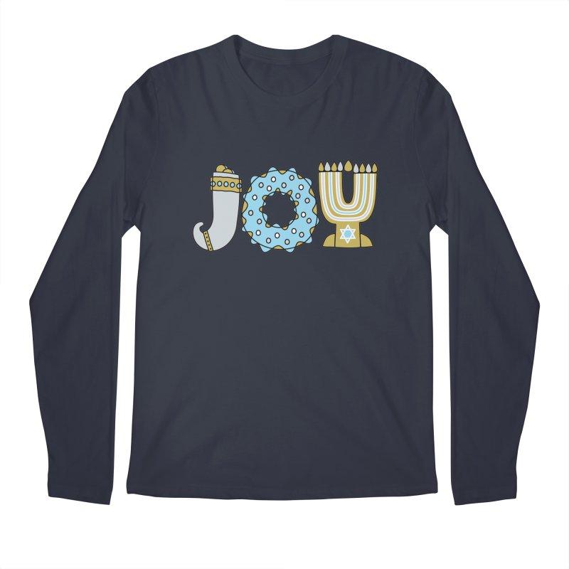 JOY (Hanukkah) Men's Regular Longsleeve T-Shirt by Hi Hello Greetings