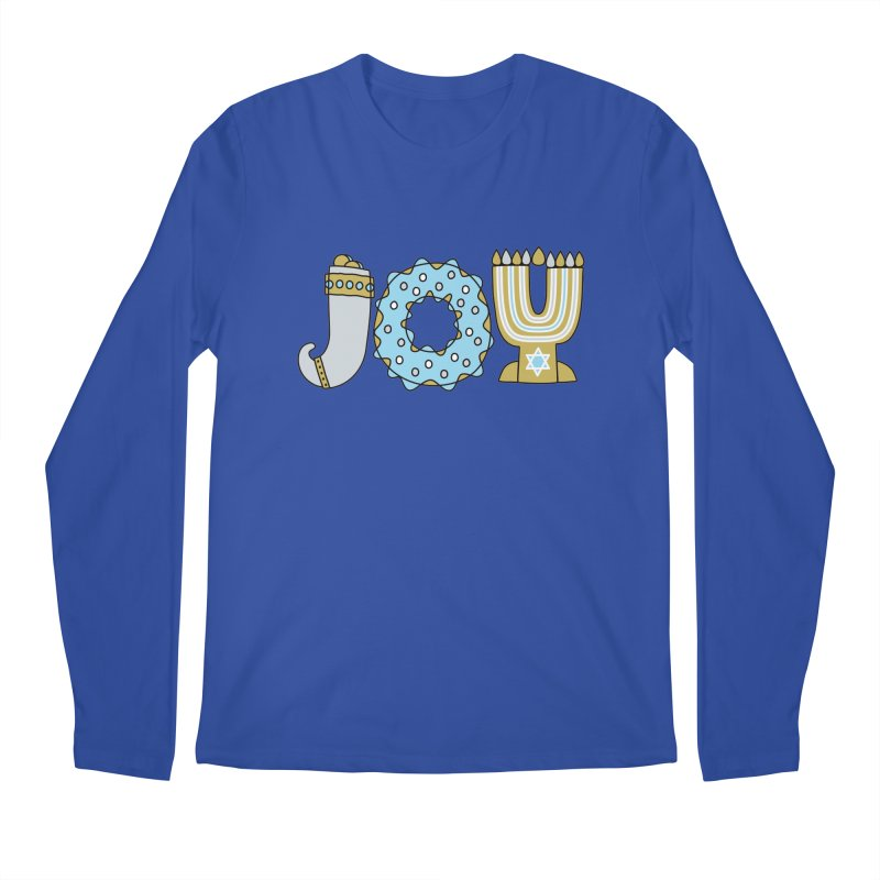 JOY (Hanukkah) Men's Regular Longsleeve T-Shirt by Hi Hello Greetings