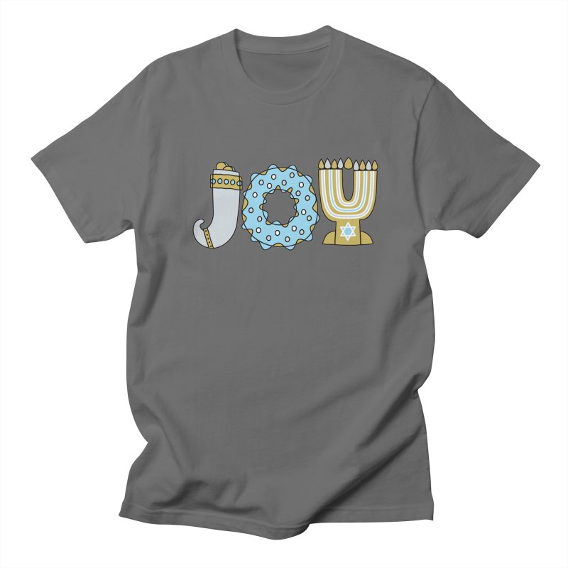 JOY (Hanukkah) Men's T-Shirt by Hi Hello Greetings