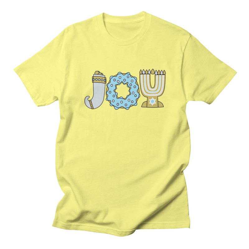 JOY (Hanukkah) Men's Regular T-Shirt by Hi Hello Greetings
