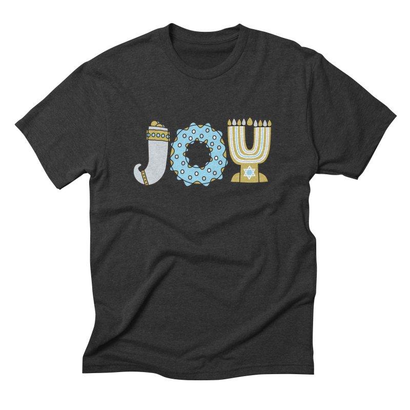 JOY (Hanukkah) Men's Triblend T-Shirt by Hi Hello Greetings