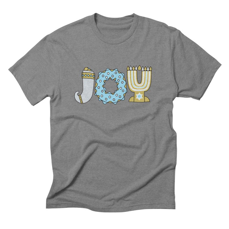 JOY (Hanukkah) Men's Triblend T-Shirt by Hi Hello Greetings