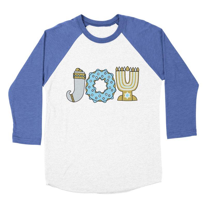 JOY (Hanukkah) Women's Baseball Triblend Longsleeve T-Shirt by Hi Hello Greetings