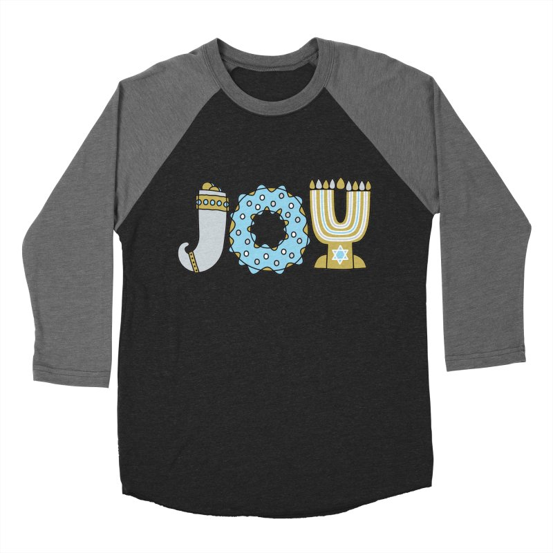 JOY (Hanukkah) Women's Baseball Triblend Longsleeve T-Shirt by Hi Hello Greetings