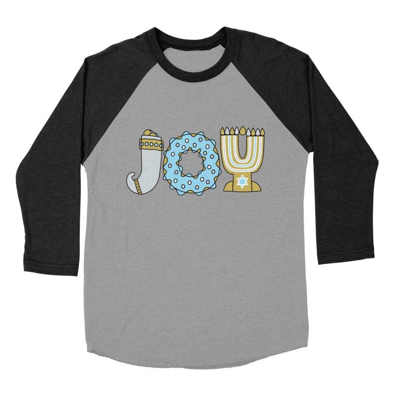 JOY (Hanukkah) Men's Baseball Triblend T-Shirt by Hi Hello Greetings