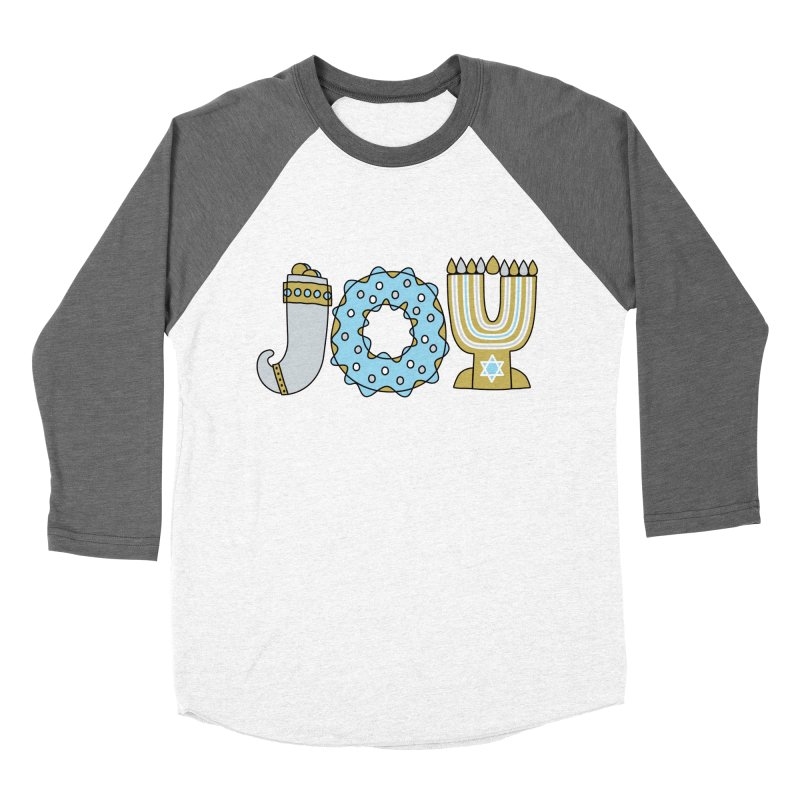 JOY (Hanukkah) Men's Baseball Triblend Longsleeve T-Shirt by Hi Hello Greetings