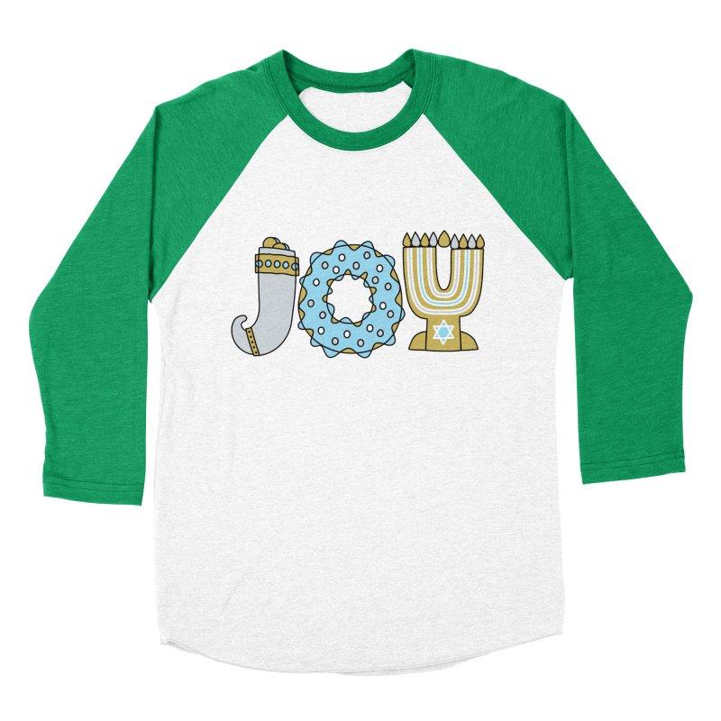 JOY (Hanukkah) Men's Baseball Triblend Longsleeve T-Shirt by Hi Hello Greetings