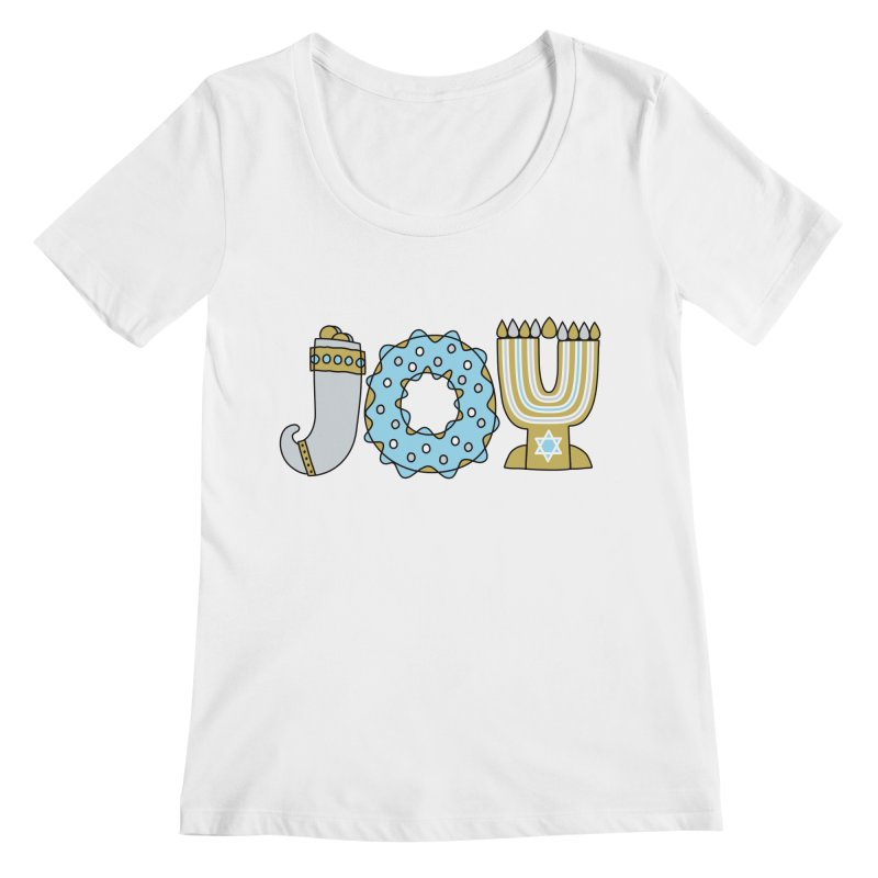 JOY (Hanukkah) Women's Scoopneck by Hi Hello Greetings