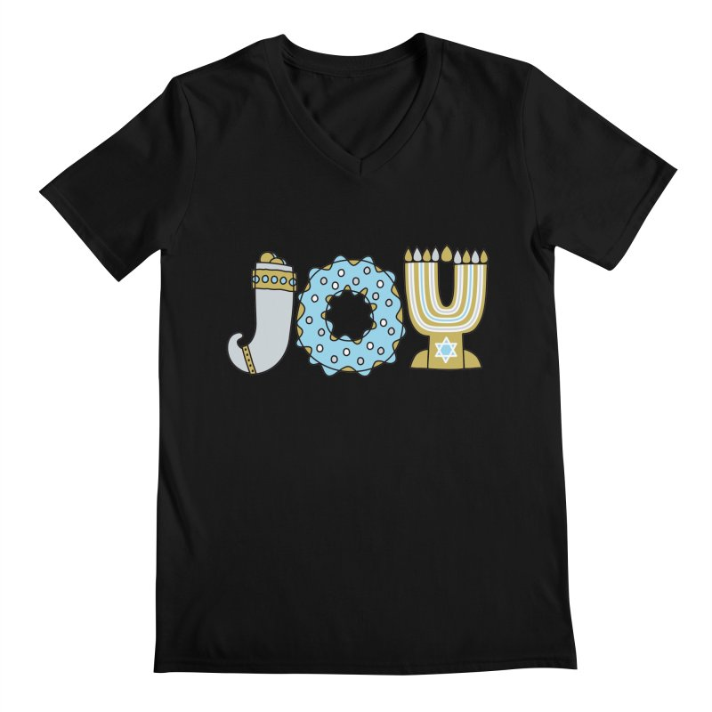 JOY (Hanukkah) Men's Regular V-Neck by Hi Hello Greetings