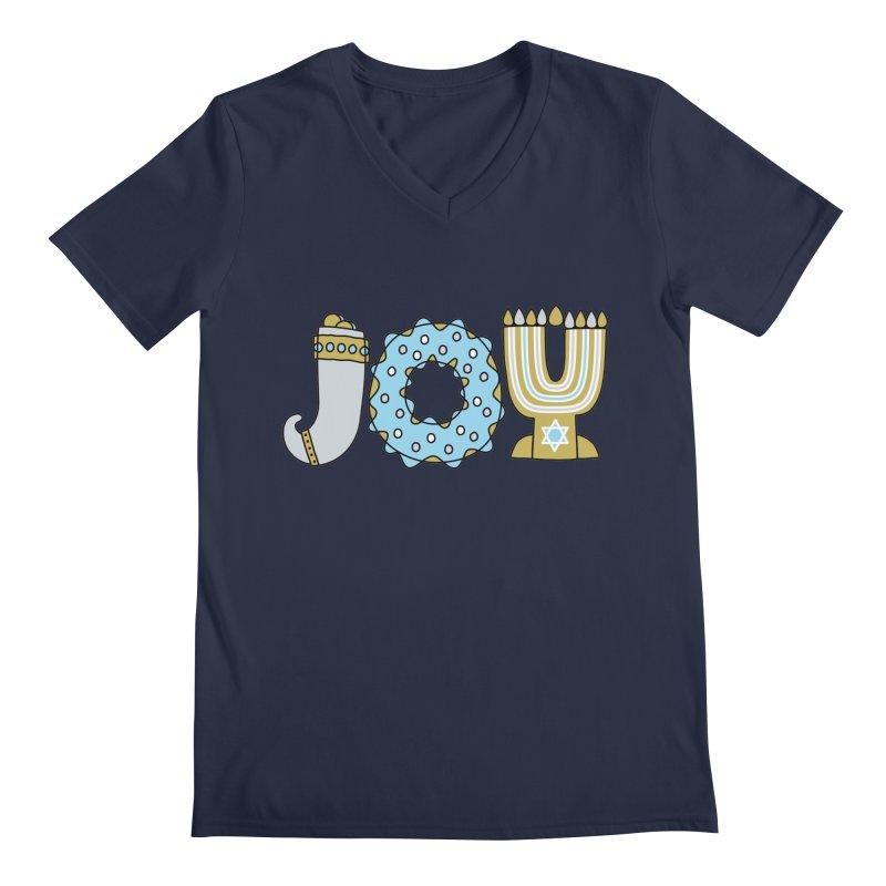 JOY (Hanukkah) Men's V-Neck by Hi Hello Greetings