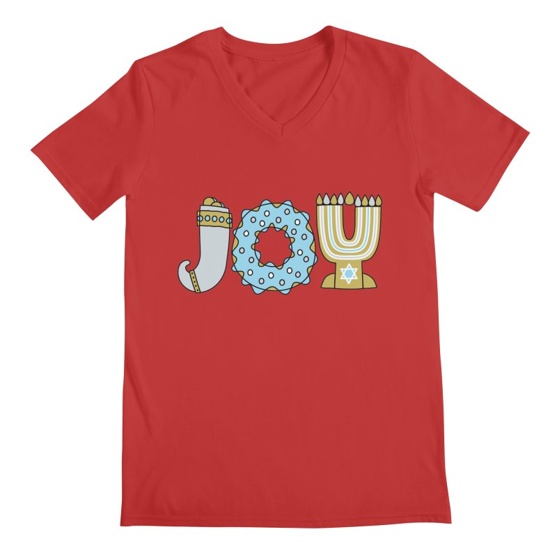 JOY (Hanukkah) Men's V-Neck by Hi Hello Greetings