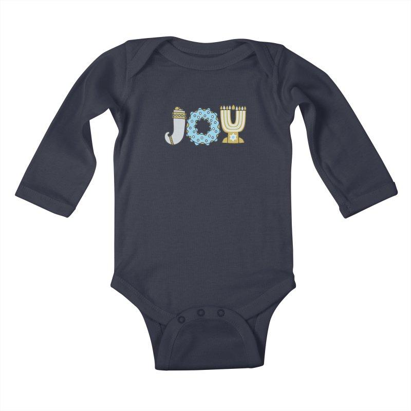 JOY (Hanukkah) Kids Baby Longsleeve Bodysuit by Hi Hello Greetings