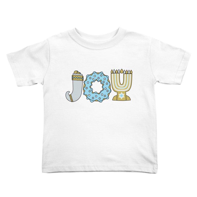 JOY (Hanukkah) Kids Toddler T-Shirt by Hi Hello Greetings