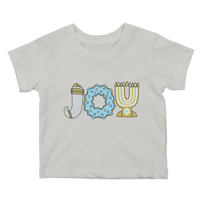 JOY (Hanukkah) Kids Baby T-Shirt by Hi Hello Greetings