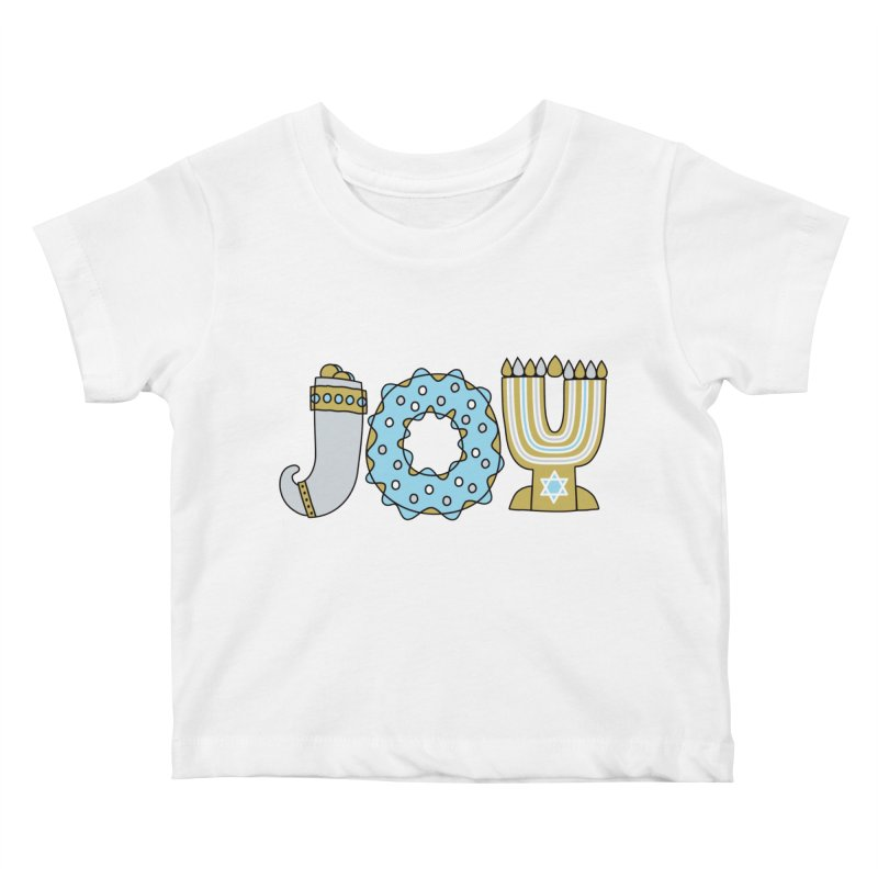 JOY (Hanukkah) Kids Baby T-Shirt by Hi Hello Greetings