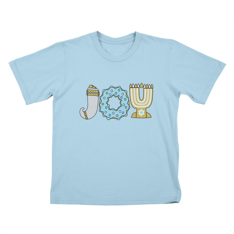 JOY (Hanukkah) Kids T-Shirt by Hi Hello Greetings