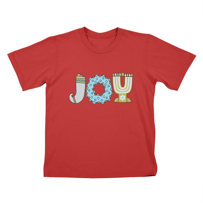 JOY (Hanukkah) Kids T-Shirt by Hi Hello Greetings