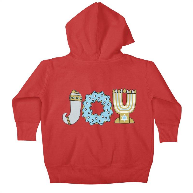 JOY (Hanukkah) Kids Baby Zip-Up Hoody by Hi Hello Greetings
