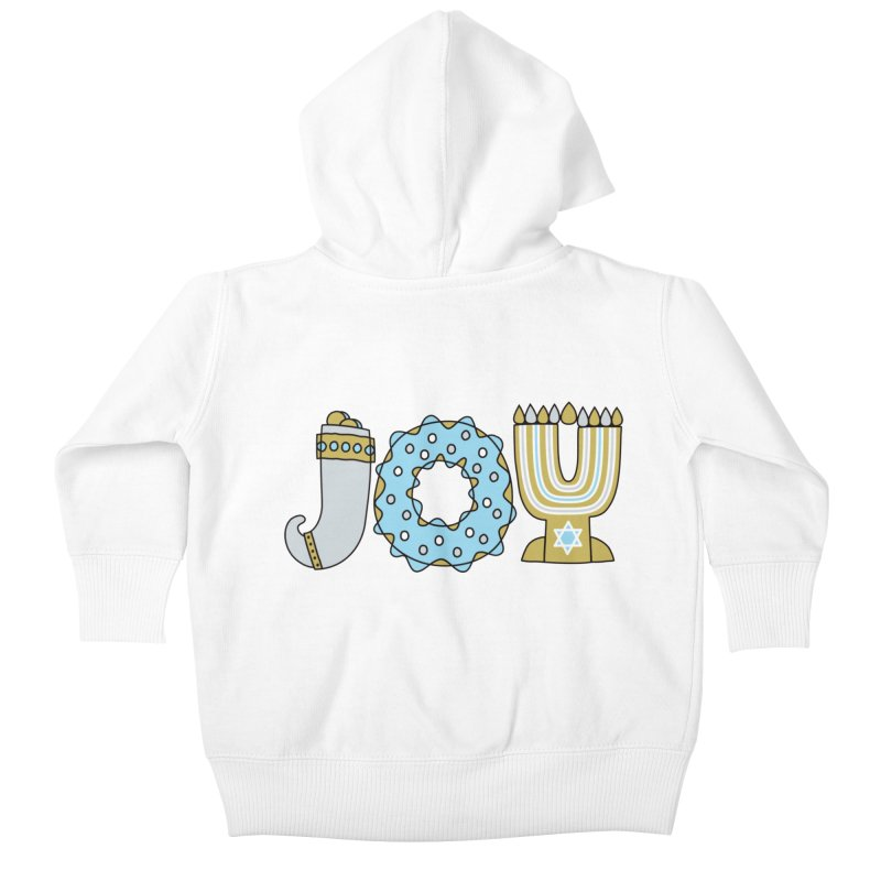 JOY (Hanukkah) Kids Baby Zip-Up Hoody by Hi Hello Greetings