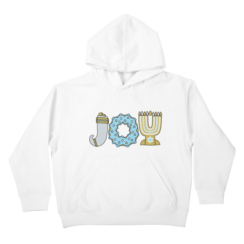JOY (Hanukkah) Kids Pullover Hoody by Hi Hello Greetings